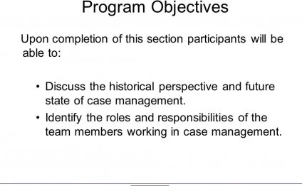 Program Objectives Upon
