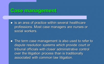 Case management is an area of
