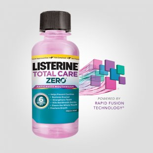 LISTERINE® TOTAL CARE ZERO – sample size bottle